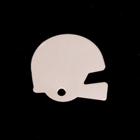 Sterling Silver Football Helmet Blank, 24g