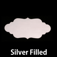 Silver Filled Large Elegant Plaque, 24g