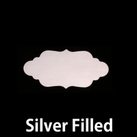Silver Filled Small Elegant Plaque, 24g
