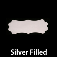 Silver Filled Small Lanky Plaque, 24g