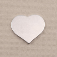 Aluminum Medium Puffy Heart, 18g