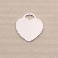"""Aluminum """"Tiffany"""" Style Heart, 18g"""