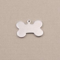 Aluminum Small Dog Bone with Top Loop, 18g