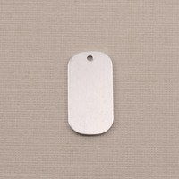Aluminum Small Dog Tag (no notch), 18g