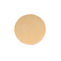 "Brass 3/4"" (19mm) Circle, 24g"