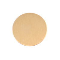 "Brass 7/8"" (22.5mm) Circle, 24g"