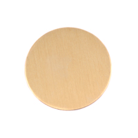 "Brass 1"" (25mm) Circle, 24g"