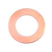 "Copper 1"" Washer, 5/8"" ID, 24g"