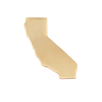Brass California State Blank, 24g