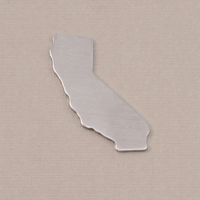 Aluminum California State Blank, 18g