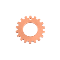 "Copper Notched Washer 3/4"" Washer, 3/8"" ID, 24g"