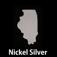 Nickel Silver Illinois State Blank, 24g