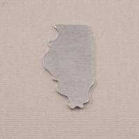 Aluminum Illinois State Blank, 18g