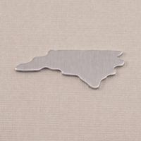 Aluminum North Carolina State Blank, 18g