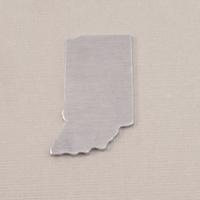 Aluminum Indiana State Blank, 18g