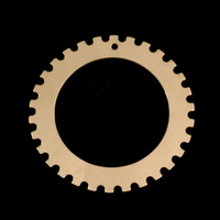 """Gold Filled Notched Washer 1 3/8"""" Washer, 1"""" ID, 24g"""