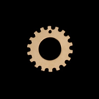 """Gold Filled 3/4"""" Notched Washer, 3/8"""" ID, 24g"""
