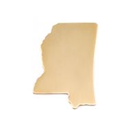 Brass Mississippi State Blank, 24g