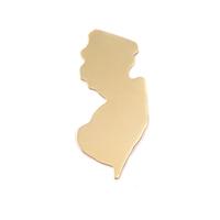 Brass New Jersey State Blank, 24g
