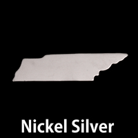 Nickel Silver Tennessee State Blank, 24g