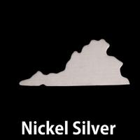 Nickel Silver Virginia State Blank, 24g