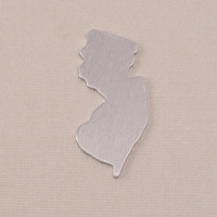 Aluminum New Jersey State Blank, 18g