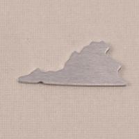 Aluminum Virginia State Blank, 18g