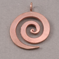 "Bronze Large Spiral Pendant 1 1/8"" (28.5mm)"