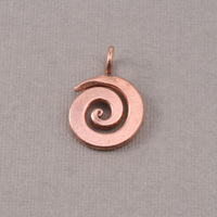 "Bronze Small Spiral Pendant 5/8"" (16mm)"
