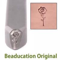 Open Rose Design Stamp-Beaducation Original