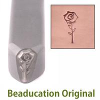 Open Rose Design Stamp-Beaducation Original