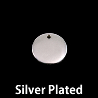 "Silver Plated Pewter 1/2"" (13mm) Circle with hole, 16g"