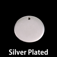 "Silver Plated Pewter 3/4"" (19mm) Circle with hole, 16g"