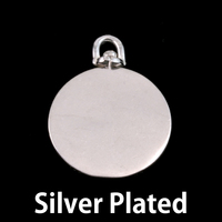 Silver Plated Brass Large Circle Swivel Pendant