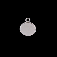 Sterling Silver Tiny Circle Pendant with Raised Edge