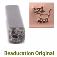 Cat Stick Figure Design Stamp- Beaducation Original