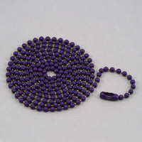 "Purple Ball Chain with connector, 30"" 2.4mm"