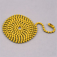 "Yellow Ball Chain with connector, 30"" 2.4mm"