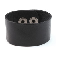 "Stampable Leather Cuff 1 1/4"" Black"