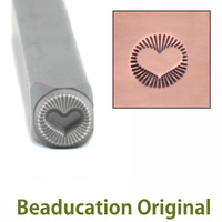 Radiant Heart Design Stamp- Beaducation Original