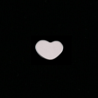 Sterling Silver Heart, 8.5mm, 24g