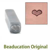 Fat Lined Heart Design Stamp- Beaducation Original