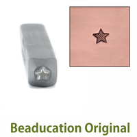 Lined Star Design Stamp 2mm- Beaducation Original