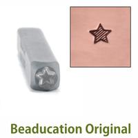 Lined Star Design Stamp 3mm- Beaducation Original
