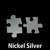 Nickel Silver Paired Puzzle Pieces, 24g
