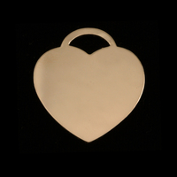 "Gold Filled ""Tiffany"" Style Heart, 24g"