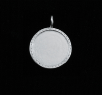 Sterling Silver Circle with Textured Edge, Medium