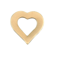 Brass Small Heart Washer, 24g