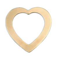 Brass Large Heart Washer, 24g