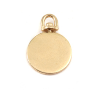 Brass Medium Circle Swivel Pendant